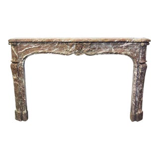 French Louis XV Antique Marble Mantel