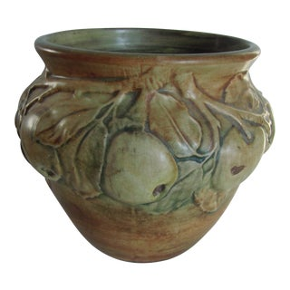 Apple Pattern Weller Vase For Sale