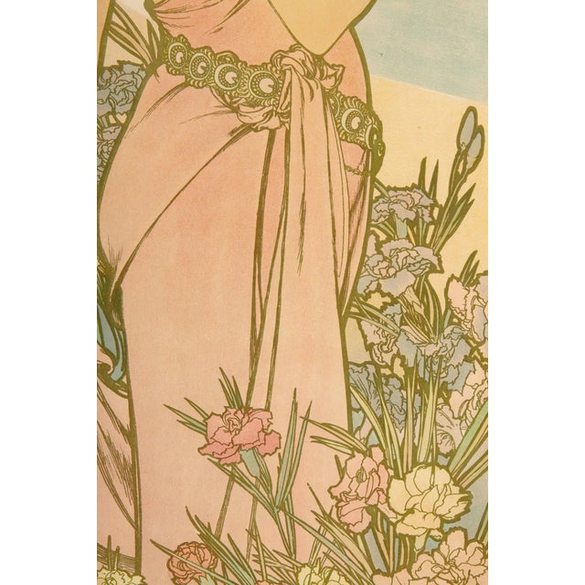 Alphonse Mucha Late 19th Century Alphonse Mucha Carnation Art Nouveau Poster For Sale - Image 4 of 6
