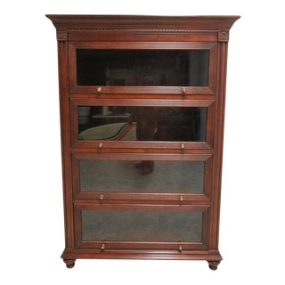 1990s Ethan Allen British Barrister Bookcase For Sale