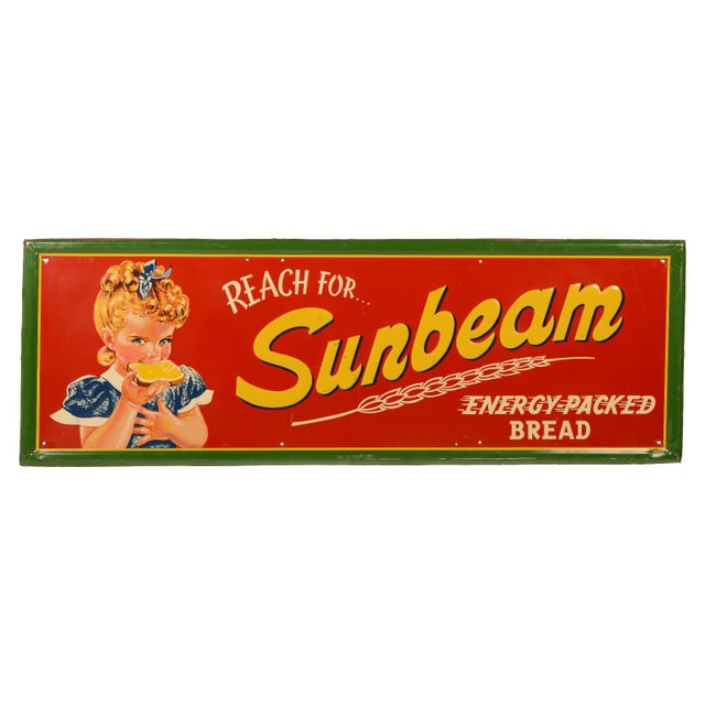 Vintage Sunbeam Bread Sign For Sale - Image 10 of 10