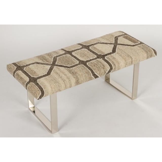 "Modern BeBe Marakech Kilim 42""Bench For Sale - Image 3 of 3"