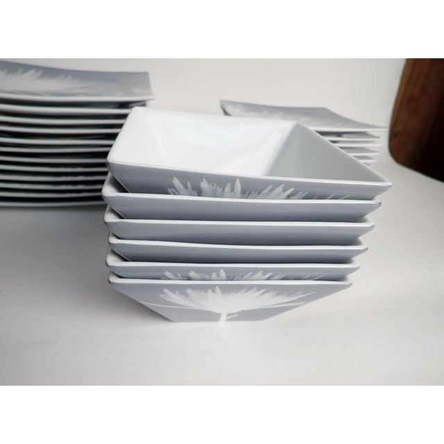 Ceramic CB2 Modern Dinnerware Featuring Mums - 40 Piece Set For Sale - Image 7 of 11