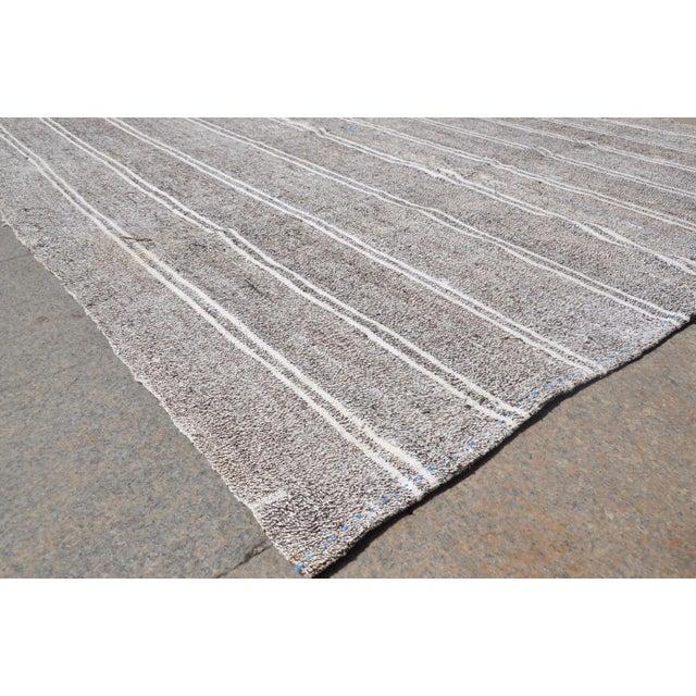 Turkish Stripe Kilim Rug - 6′5″ × 8′2″ For Sale - Image 4 of 6