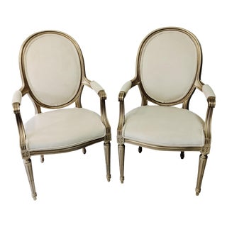 19th Century Vintage Painted Chairs - a Pair For Sale