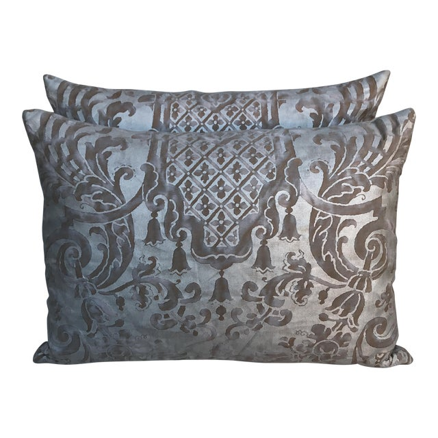 Fortuny Pillows- A Pair - Image 1 of 6