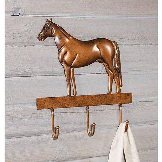 Copper Horse Wall Mounted Coat Hooks - Image 3 of 6