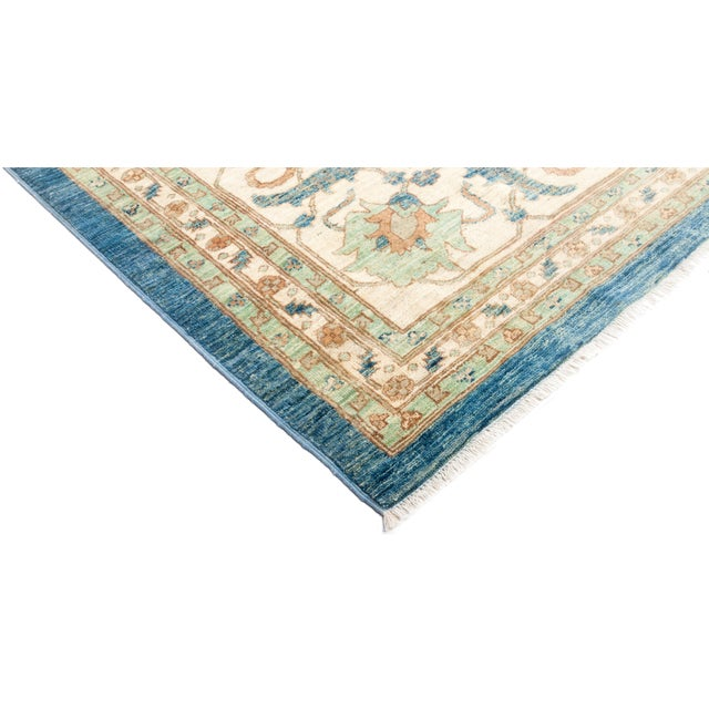 """Oushak Hand Knotted Area Rug - 9' 3"""" X 12' 1"""" - Image 2 of 4"""