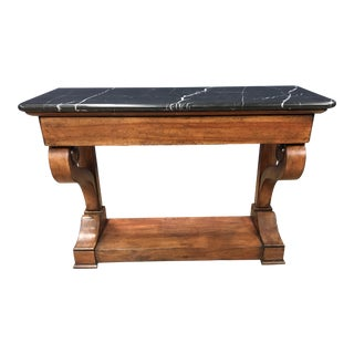 Empire Century Andover Console With Marble Top For Sale