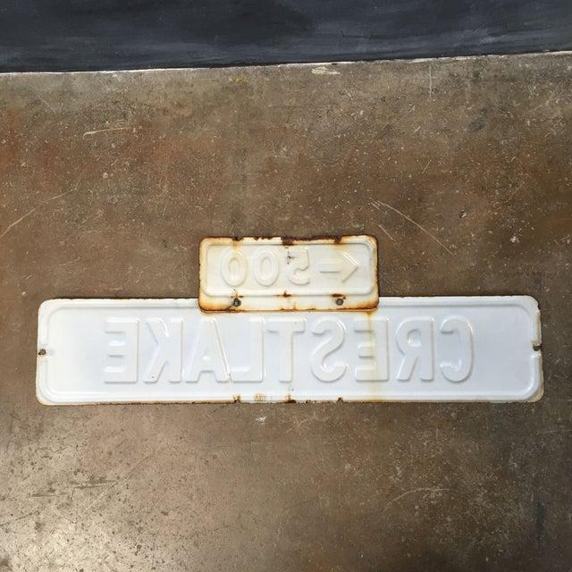 Vintage Enamel Street Sign - Crestlake - Image 4 of 4