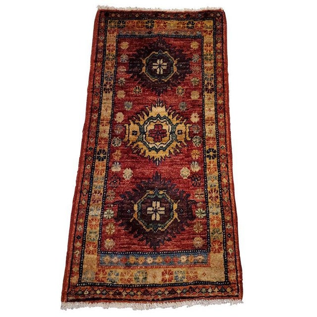 """Textile Afghan Tribal Red Rug-1'8'x3'3"""" For Sale - Image 7 of 7"""