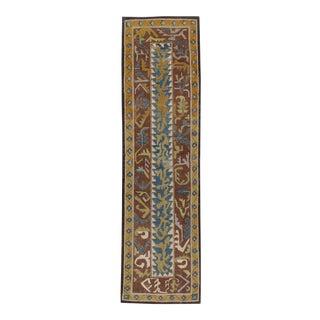 21st Century Contemporary Handmade Persian Tabriz Abstract Runner For Sale