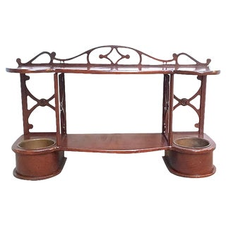 Vintage Sheraton Style Cachepot Wall Etagere For Sale