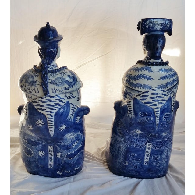 Very Large Scale Chinese Blue & White Figures - Image 9 of 9