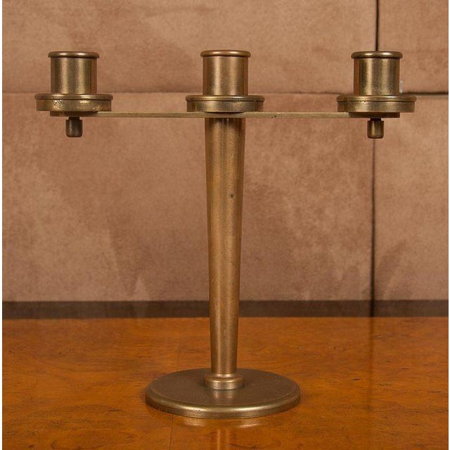 Tiffany and Co. Tiffany & Co. Art Deco Bronze Candelabra - a Pair For Sale - Image 4 of 9