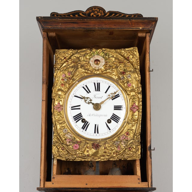 19th Century French Comtoise Grandfather Clock For Sale - Image 10 of 12
