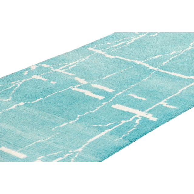 Textile 21st Century Modern Moroccan Style Wool Runner For Sale - Image 7 of 9