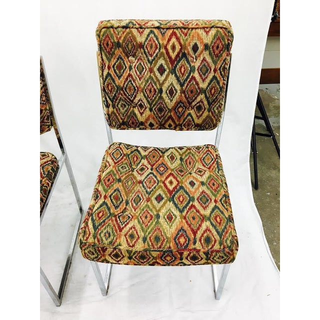 Vintage Mid-Century Modern Chrome Frame Chairs - Set of 4 For Sale - Image 9 of 11