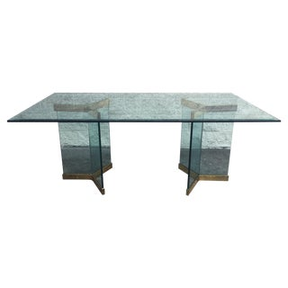 Leon Rosen for Pace Collection Brass Dining Table