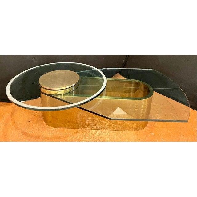 Glass Dakota Jackson Self Winding Coffee Table For Sale - Image 7 of 12