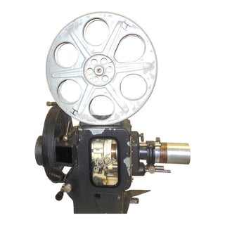 Motion Picture 35mm Theatre Projector 1922 Design, Complete Head Hollywood Relic For Sale