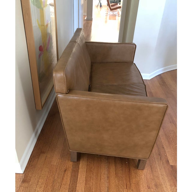 """MCMs most well known icon is Mies van der Rohe. Offered here is a """"Krefeld"""" leather settee from Knoll. 100% authentic...."""