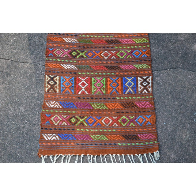 Peruvian Style Patterned Rug - 1′9″ × 4′3″ - Image 7 of 7