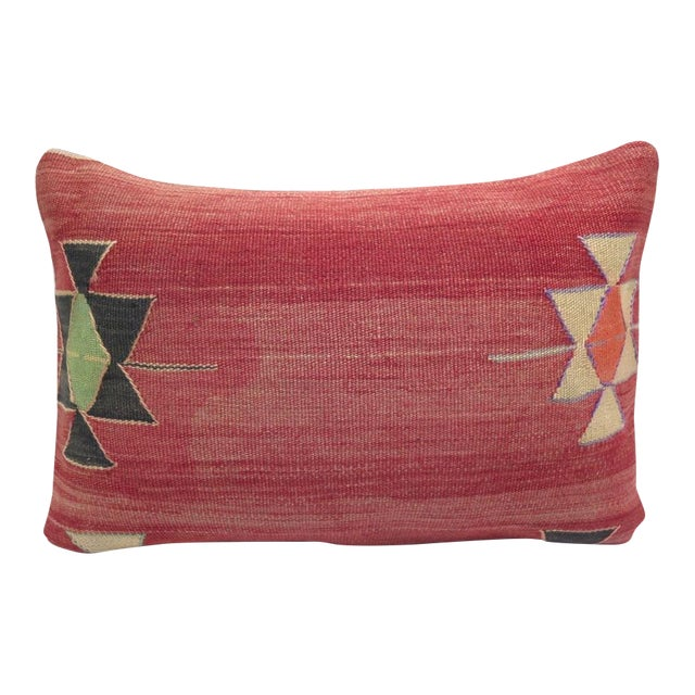 Vintage Turkish Kilim Pillow Cover - Image 1 of 3