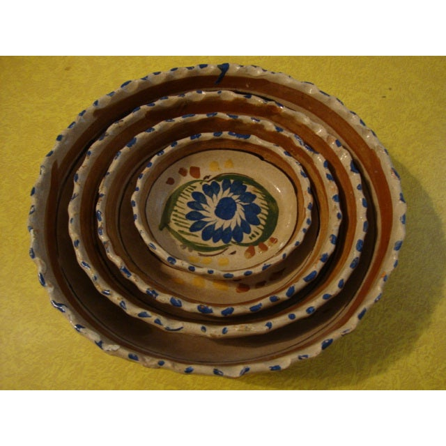 Mexican Tlaquepaque Nesting Bowls - Set of Four - Image 9 of 10