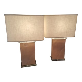 Mid-Century Vellum Table Lamps - A Pair For Sale