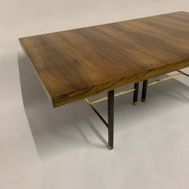 Harvey Probber Sculptural Floating Dining Table in Rosewood, Brass and Mahogany For Sale In New York - Image 6 of 13