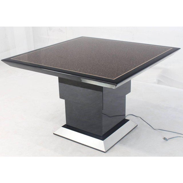 Silver Remote Controlled Hi-Lo Adjustable Height Convertible Coffee Dining Game Table For Sale - Image 8 of 12