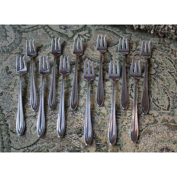 1847 Rogers Bros Fruit Forks - Set of 12 - Image 2 of 5