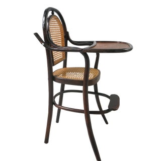 Early 20th Century Antique Children's Bentwood Highchair For Sale