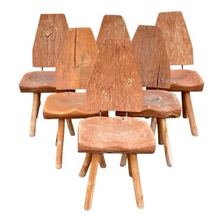 Rustic Modern Chairs - Set of 6 For Sale