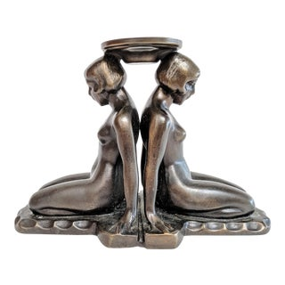 Art Deco Bronze Nudes Incense Burner