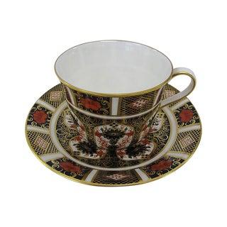 Vintage Royal Crown Derby Porcelain Cup & Saucer For Sale