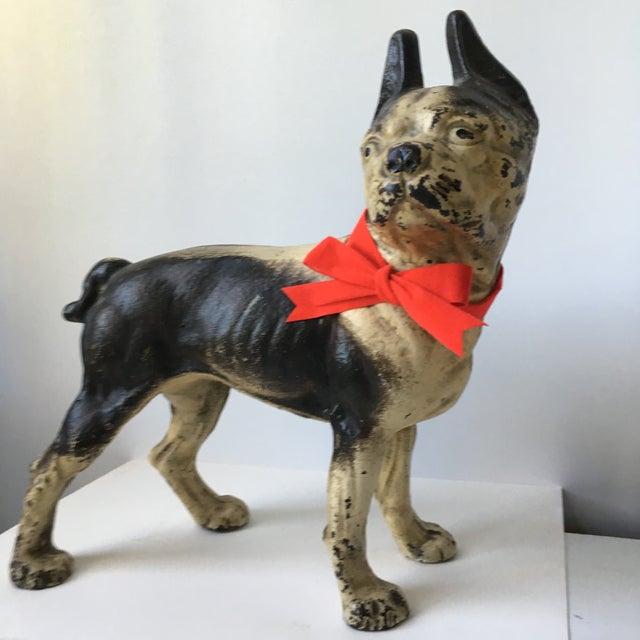 American 1900s Antique Hubley Terrier Cast Iron Doorstop For Sale - Image 3 of 9