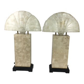 Maitland Smith Shell Table Lamp - A Pair For Sale