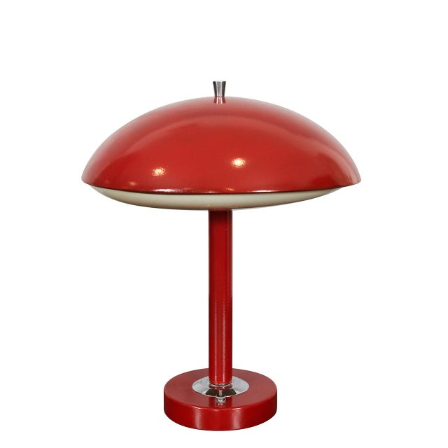 Red Mid-Century Table Lamp For Sale In Los Angeles - Image 6 of 6