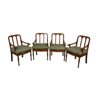 Trouvailles English Regency Style Set 4 Armchairs For Sale