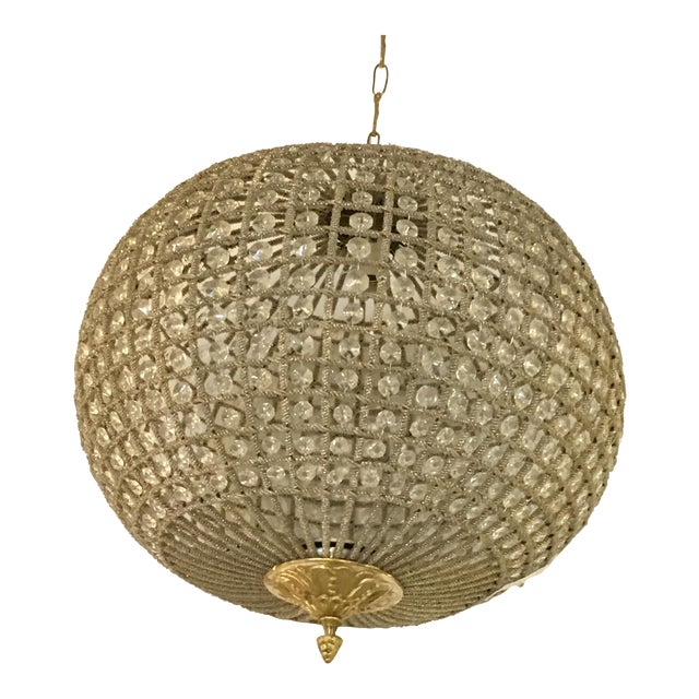 Globe Pendant Chandeliers - A Pair For Sale - Image 10 of 10