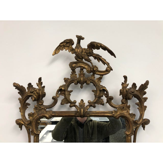 Chinoiserie 18th Century English Chippendale Chinoiserie Style Wall Mirror For Sale - Image 3 of 13