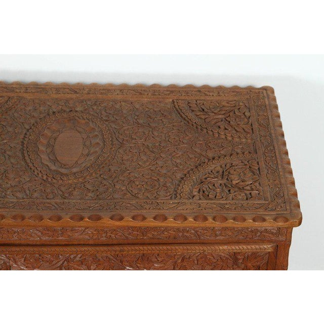 Anglo-Indian Asian Finely Hand-Carved Sideboard From Java, Indonesia For Sale - Image 3 of 10