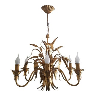 Maison Bagues Chandelier - Mid Century - Sheaf of Wheat - 6 Lights For Sale