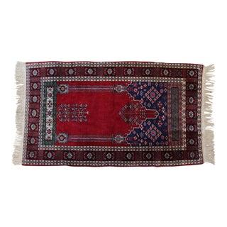 "Turkish Prayer Rug- 3'2"" x 5'5"""