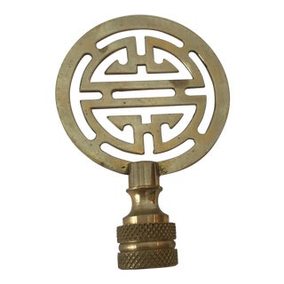 Chinoiserie Brass Lamp Finial