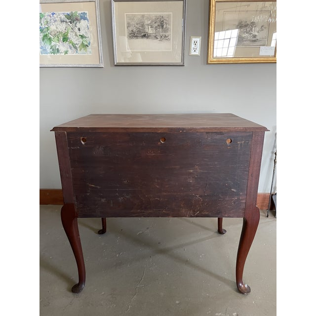 19th Century Queen Anne Style Solid Mahogany Chest With Cabriole Legs For Sale - Image 11 of 13