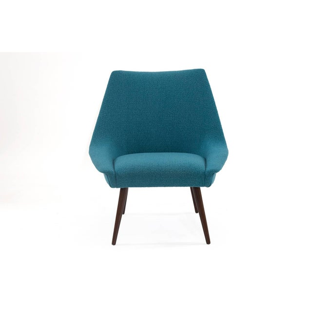 Pair of Sculptural Upholstered Lounge Chairs For Sale - Image 4 of 6