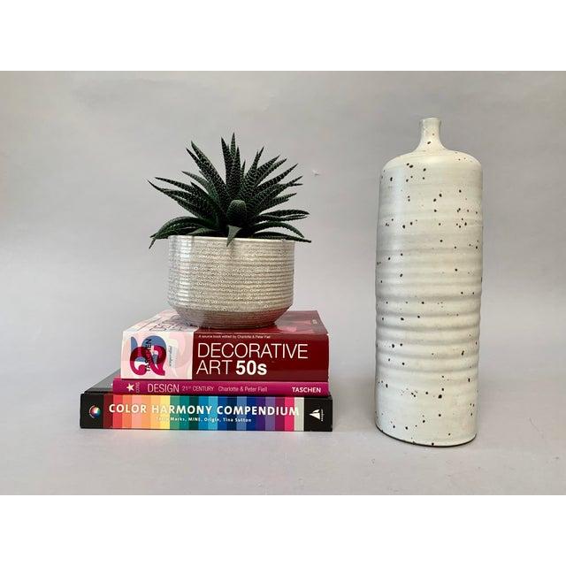 1970s Japanese Organic Modern Studio Pottery Bottle Form Vase For Sale - Image 5 of 9
